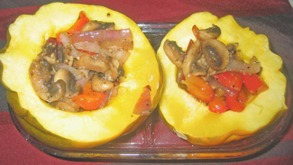 Acorn squash with vegetable filling