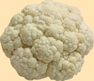Whole Cauliflower, washed and trimmed, ready to be grated