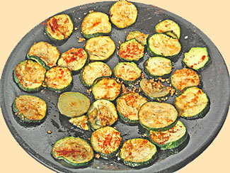 Zucchini just out of the Microwave