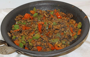 Filling for Mushooms cooked in pan