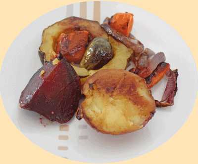 A Serving of Delicious Roasted Vegetables